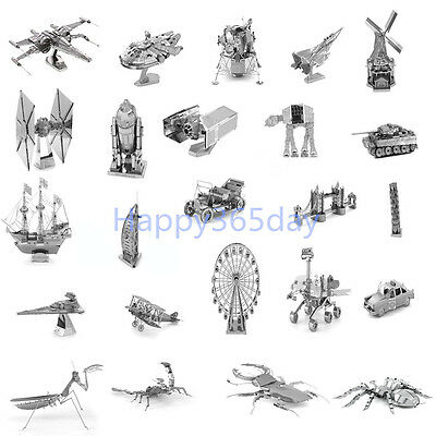 3D Metal Model Puzzle Nano Metallic Laser Cut Steel Jigsaw Kid Toys Gift DIY