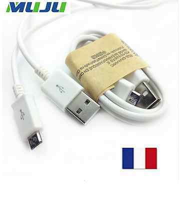 Cable blanc chargeur usb pour Samsung Galaxy S3 S4 S5 S6 S7 NOTE Android HTC LG
