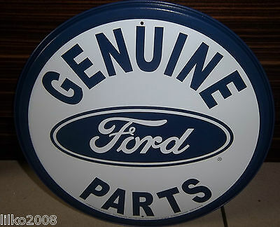 """Ford Genuine Parts , Round 12"""" Metal Wall Sign,usa, Mustang. F150, Gt40,bronco"""
