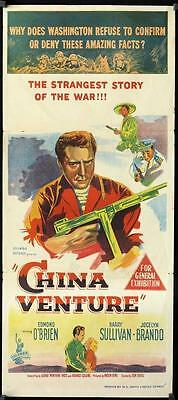 262 CHINA VENTURE Aust daybill '53 directed by Don Siegel, art of Edmond O'Brien