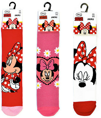 (3 Pairs) - Girls Disney Minnie Mouse Ankle Character Socks