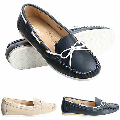 Womens Ladies Loafers Casual Moccasins Flat Office Work Summer Pumps Shoes Size