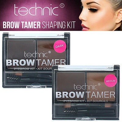 Technic Tamer Brow Shaping Kit - Eyebrow Makeup Set - Powder, Wax & Brush