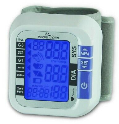 Easy@Home Digital Wrist Blood Pressure Monitor - FDA Approved For OTC #EBP-017