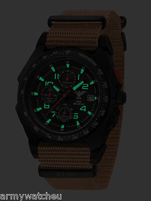 KHS Tactical Watches Analog Chronograph Gent's Wristwatch C1-Light KHS.SEACB.NT