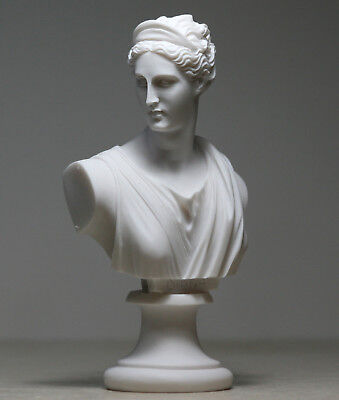 ARTEMIS DIANA  Bust Head Greek Roman Goddess Statue Handmade Sculpture 5.91in
