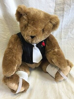 Vintage Vermont Teddy Bear Co. Brown Plush Filled with Dreams, Love 16 inch GUC