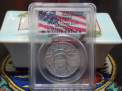 2001 MS69 $100 Platinum Eagle Bar Coded PCGS WTC World Trade Center 911 recovery