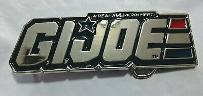 * GI JOE Chrome Color Logo Belt Buckle Cosplay comic con collectible desktopShow