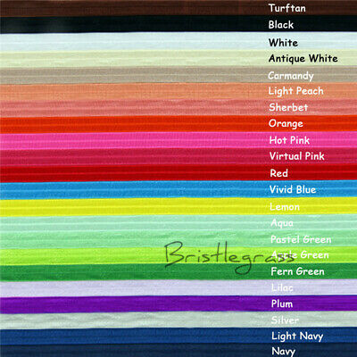 "5 Yard 5/8"" Shiny Fold Over Elastic FOE Spandex Satin Band Baby Tutu Sewing Trim"