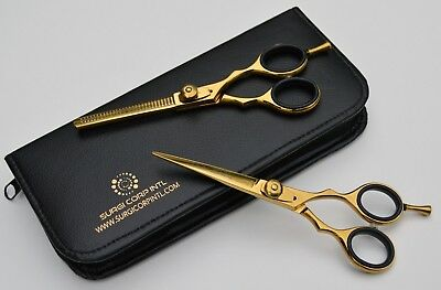 """Professional  Grooming Scissor And Thinning 6""""'RAZOR GOLD HIGHLY SHARP ITEM"""