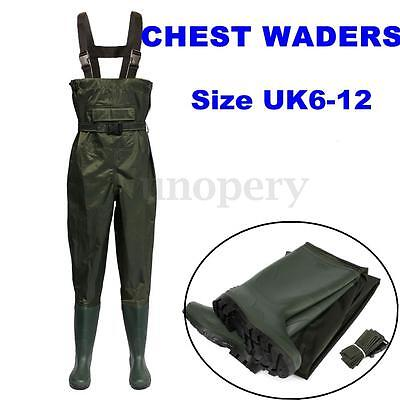 Nylon Chest Waders Boot & Belt Fly Coarse Fishing Breathable Waterproof 7 Size