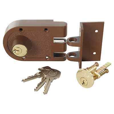 Yale Double Cylinder Deadlock Door Lock – Chrome Plated or Brown