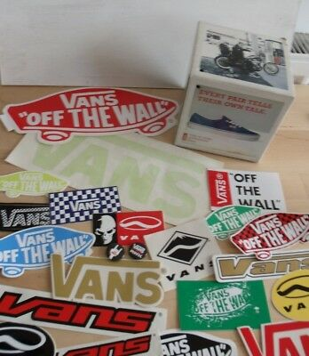 VANS ADVATISING Store Cube & STICKERS & pin Badges Skateboard Lot/ set NEW surf