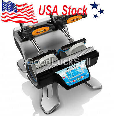 US! Freesub Automatic Double Mug Heat Press ST-210 Sublimation Transfer Printing