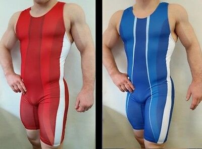 "Wrestler Sport Ringertrikot ""POWER"" in blau (Gr. 152 -XXL)"