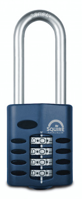 Squire CP50 2.5 50mm 4 wheel combination 63mm long shackle padlock HSQCP50/2.5
