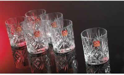 Crystal Whisky Glasses Set of 6 230 ml Classic Tumblers Cup Stability&Durability