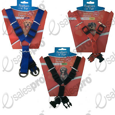 Dog Harness, Choices: Small, Medium & Large, RED, BLUE Or BLACK.