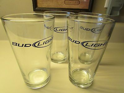 Set of 4 16 oz Bud Light Bar Heavy Beer Mixing Drinking Glass Budweiser