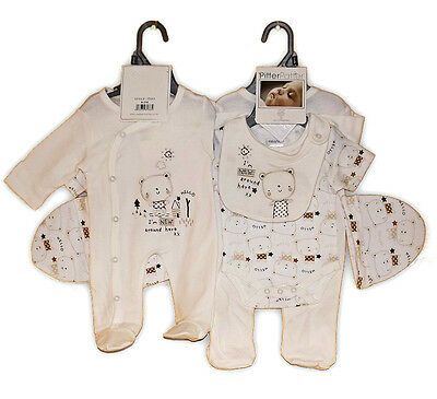 """Baby 4 Piece Clothing Layette """"I'm New Around Here"""" 0-3 3-6 Months Pitter Patter"""