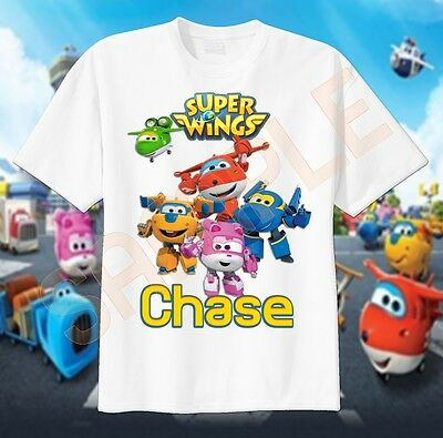 NEW Super Wings Personalized Birthday Party Gift T-Shirt