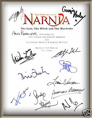 "William Moseley Tilda Swinton Signed X10 ""chronicles Of Narnia"" Movie Script Rpt"