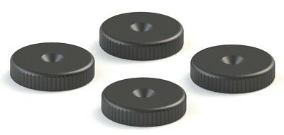 Isolation Floor Protector Speaker & Subwoofer Spike Shoe Pads (x4) Black. 20mm