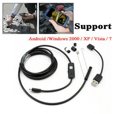 7mm USB Waterproof Endoscope Borescope Inspection Tube Video Camera for Mobile
