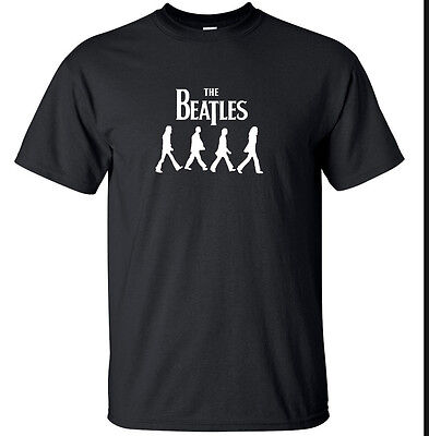 The Beatles - Walking Abbey Road retro rock music T Shirt Magical (Small - 2XL)