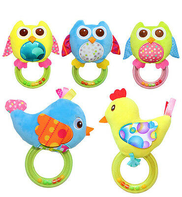 Lovely Baby Infant Hand Rattle Beads Animal Soft Plush Doll Educational Toys
