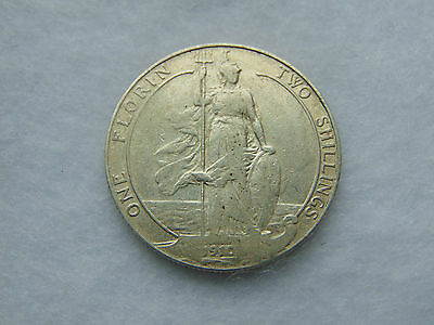 1910 Edward VII sterling silver florin, clear date (G027)