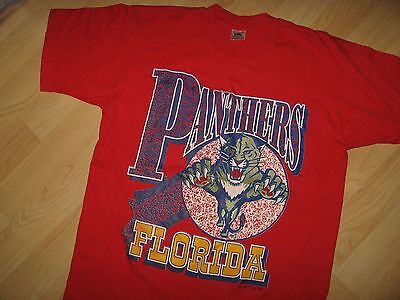 Florida Panthers Vintage Tee - 1993 NHL Hockey Team Made in USA T Shirt Large