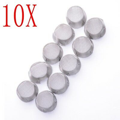 10x Pack Stainless Steel Dome Screen Pack For Ariz Solo And Ariz Air Glass Tube