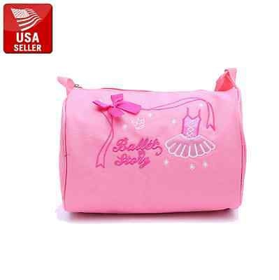 Kids Pink Ballet Bag Shoulder Strap Dance Class School Cute Quality Accessory