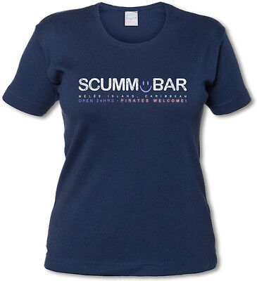 SCUMM BAR WOMAN T-SHIRT - The Secret of Monkey Island Adventure Game Escape From