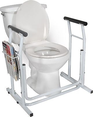 Toilet Safety Rail Free-standing -Drive Medical RTL12079  300 Lbs.