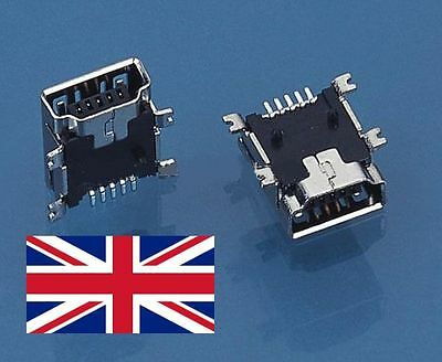 1 x 5-Pin Female Mini USB Type B SMT PCB Socket Connector TomTom GPS PSP