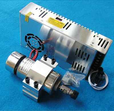 1x 300W 12-48VDC Spindle Motor +48V 360W Adjustable Power Supply +52mm Mount Set