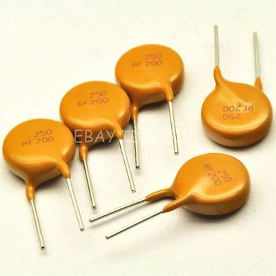 5PCS PPTC TRF250-200 250V 0.2A 200MA Resettable Fuse DIP