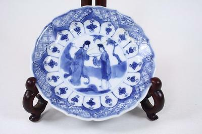 Antique Chinese Qing Dynasty 'kang Xi' Blue And White Plate