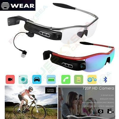 Bluetooth4.0 Smart Glasses Driving Music Phone Call 8MP 720P HD Camera Camcorder