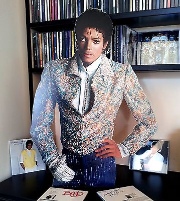 Michael Jackson Promo DISPLAY Stand CUTOUT NEW Xscape Thriller Billie Jean Jam