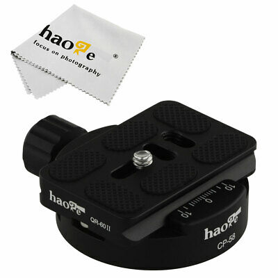 60mm Quick Release Plate + 58mm Clamp for Manfrotto Arca Swiss Tripod BallHead