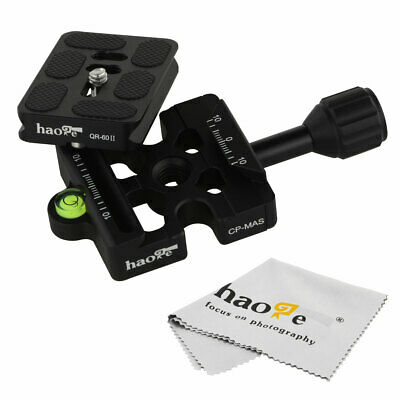 Haoge CP-MAS Adapter Clamp +60mm Plate Compatible Arca Swiss Manfrotto 200PL RC2