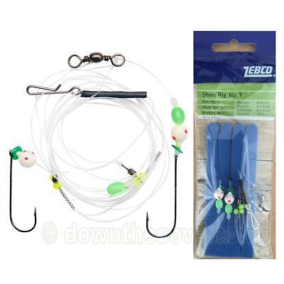 Zebco Shore Rig 7 - Surf Rig - UV Active Sea Fishing Tackle - 1st Class Post