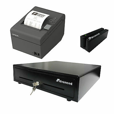 Point of Sale Restaurant Retail Bundle Printer Cash Drawer MSR  Aldelo pcAmerica