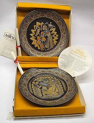 Denby Pottery Egyptian Plates,  Boxed  Pair