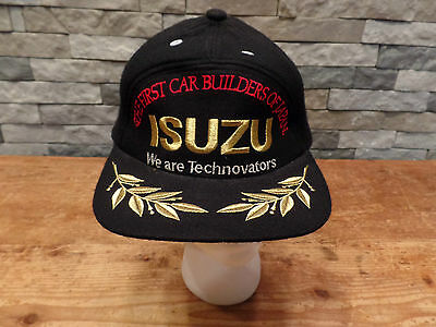 Vintage Isuzu Trucker Hat The First Car Builders Of Japan Technovators Black