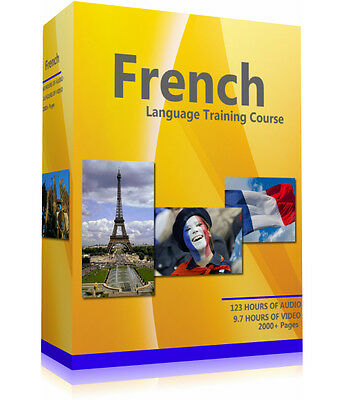 Learn to Speak French - Extensive Language Training Course -Two PC CD-ROM's DVD